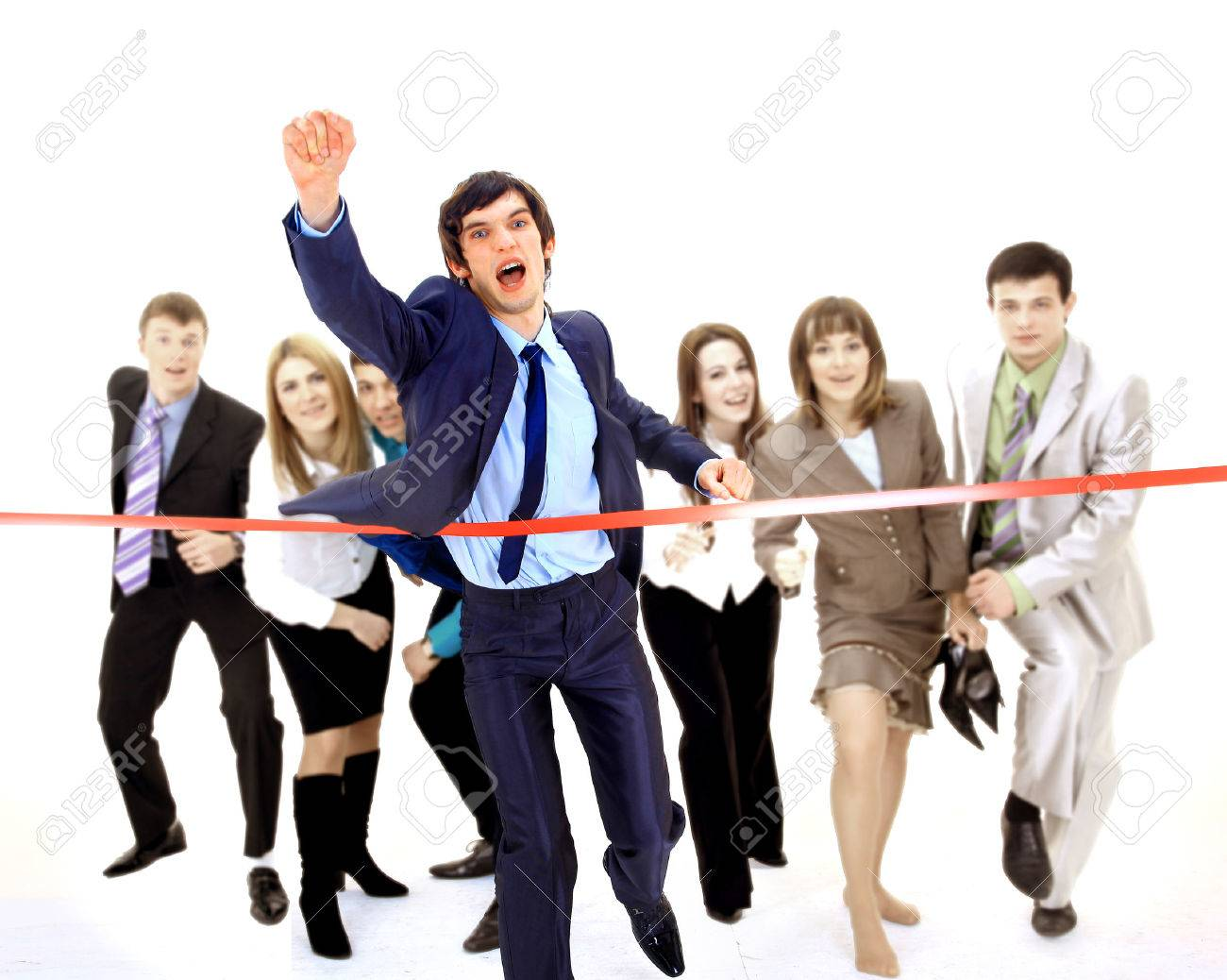 line leader images stock pictures royalty line leader line leader businesspeople crossing the finish line
