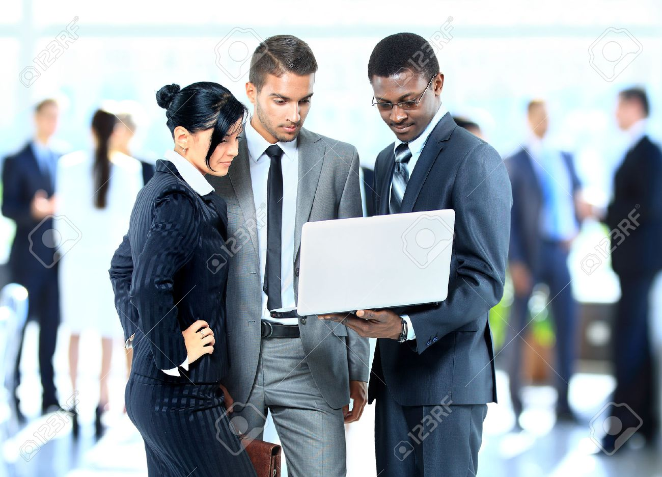 Successful business people working together Stock Photo - 22400344