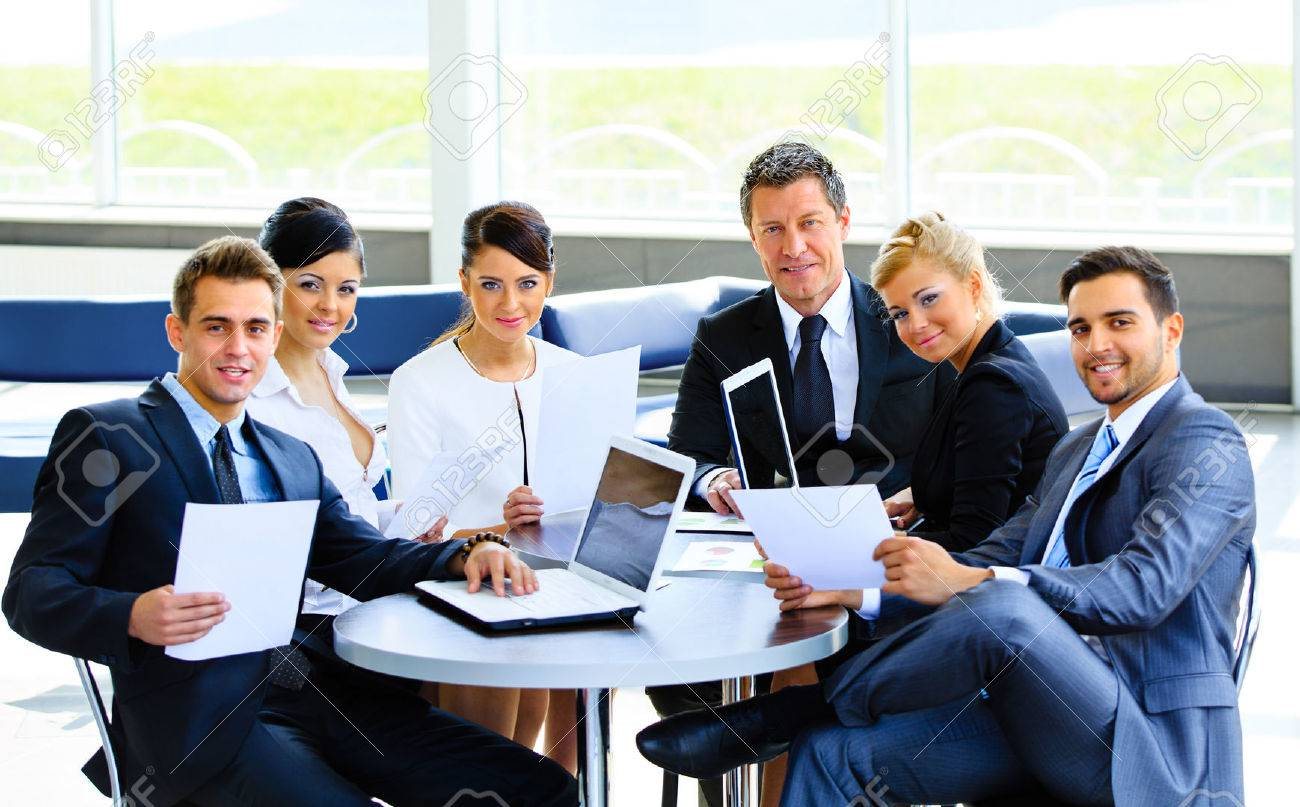 Successful business team at the office Standard-Bild - 34313807