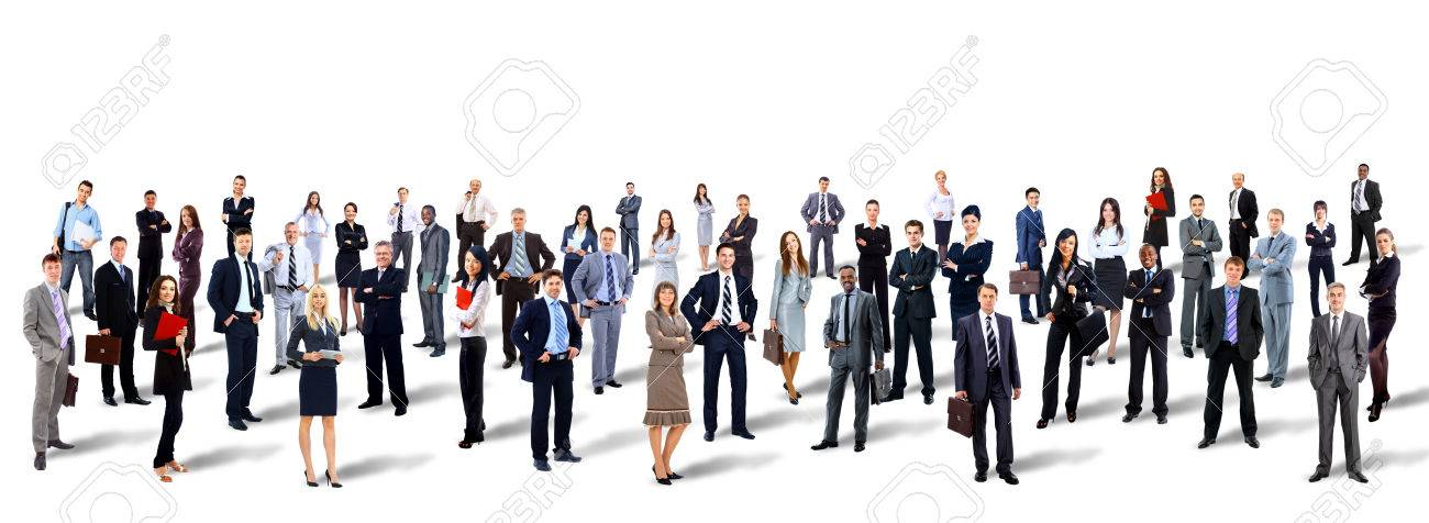 Group of business people. Isolated over white background Standard-Bild - 49554880