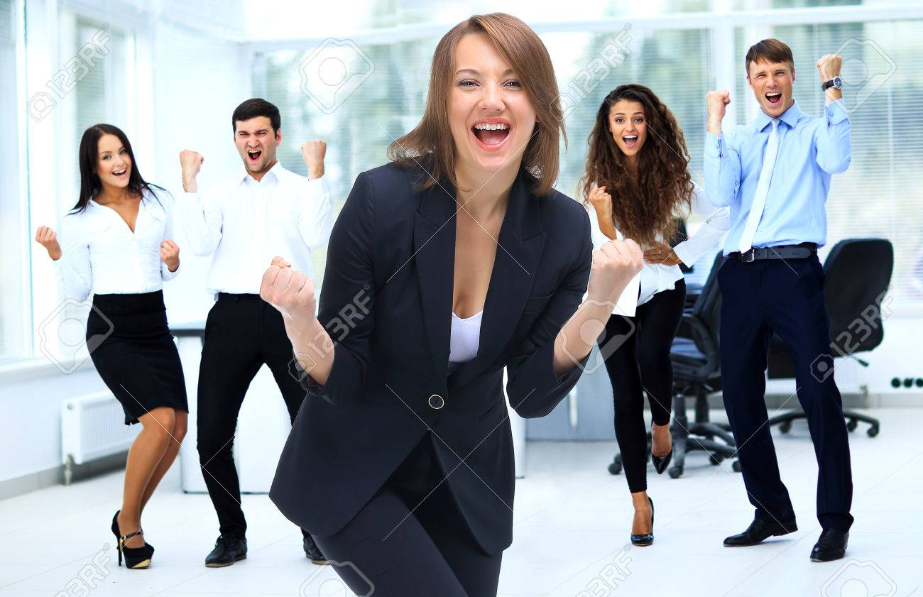 Happy Successful Business team at modern office - 61520351