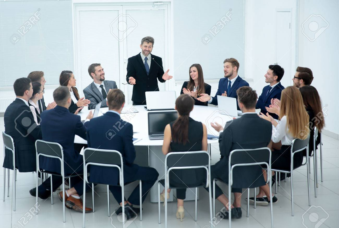 Indoor business conference for managers. - 66014813