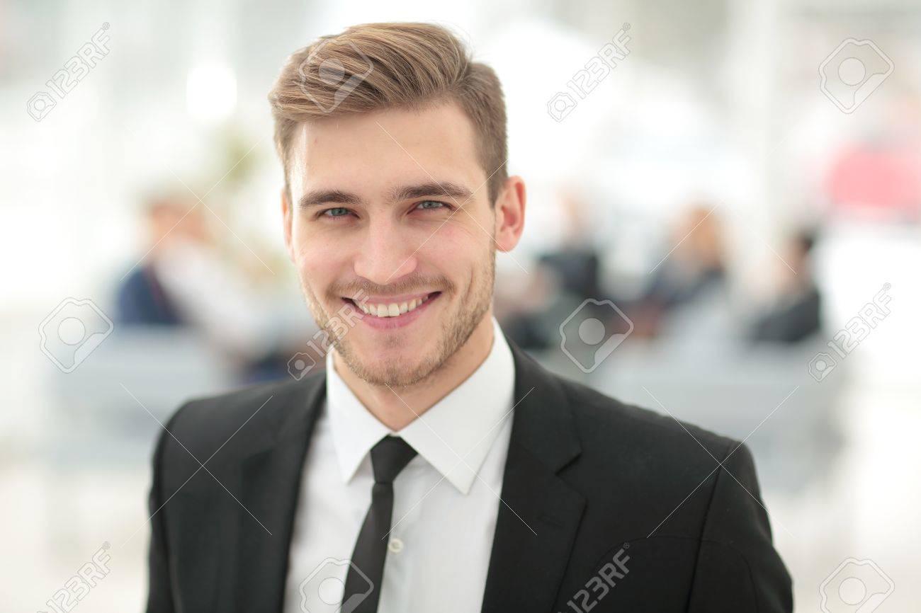 Portrait of happy smiling business man - 66016127