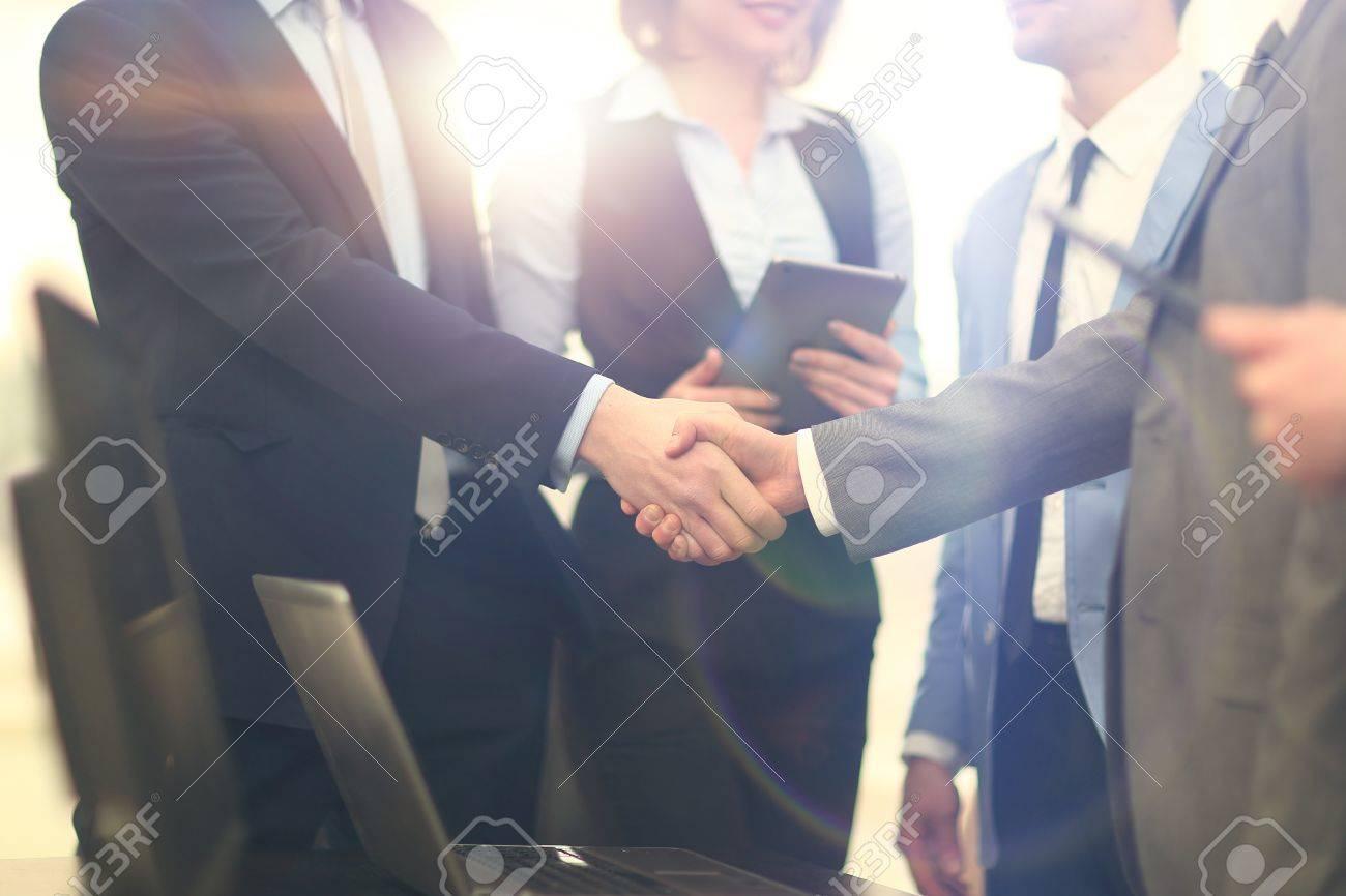 Business handshake Standard-Bild - 67385181