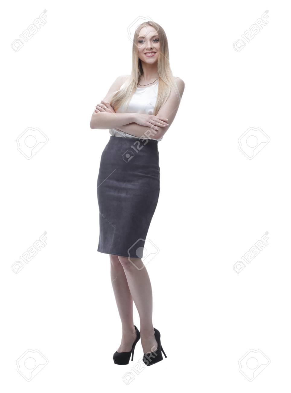 若いビジネス女性。全身肖像画。 の写真素材・画像素材 Image 85477833.
