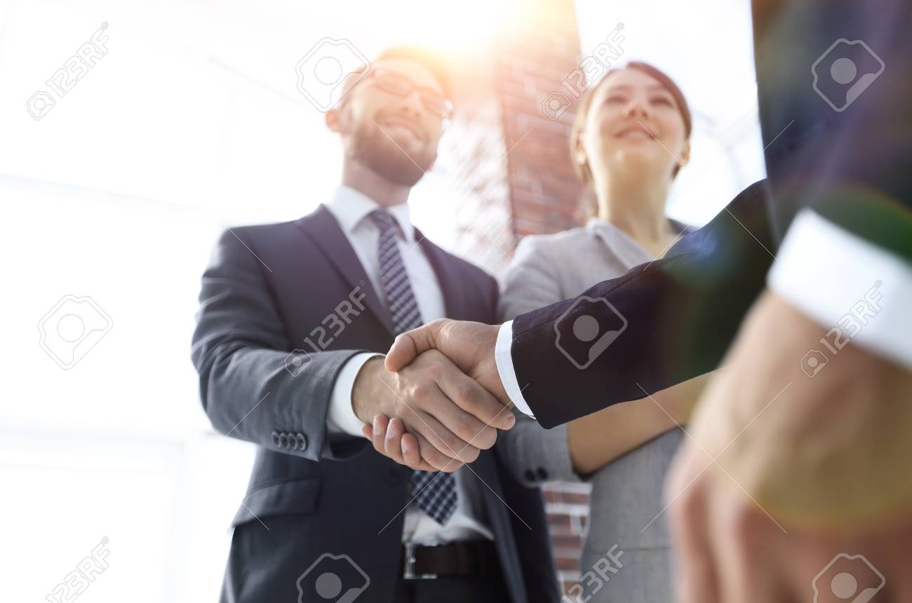 friendly handshake of business people. - 112083840