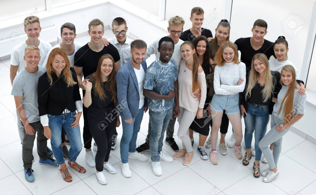 group of diverse young people looking at the camera - 141533559