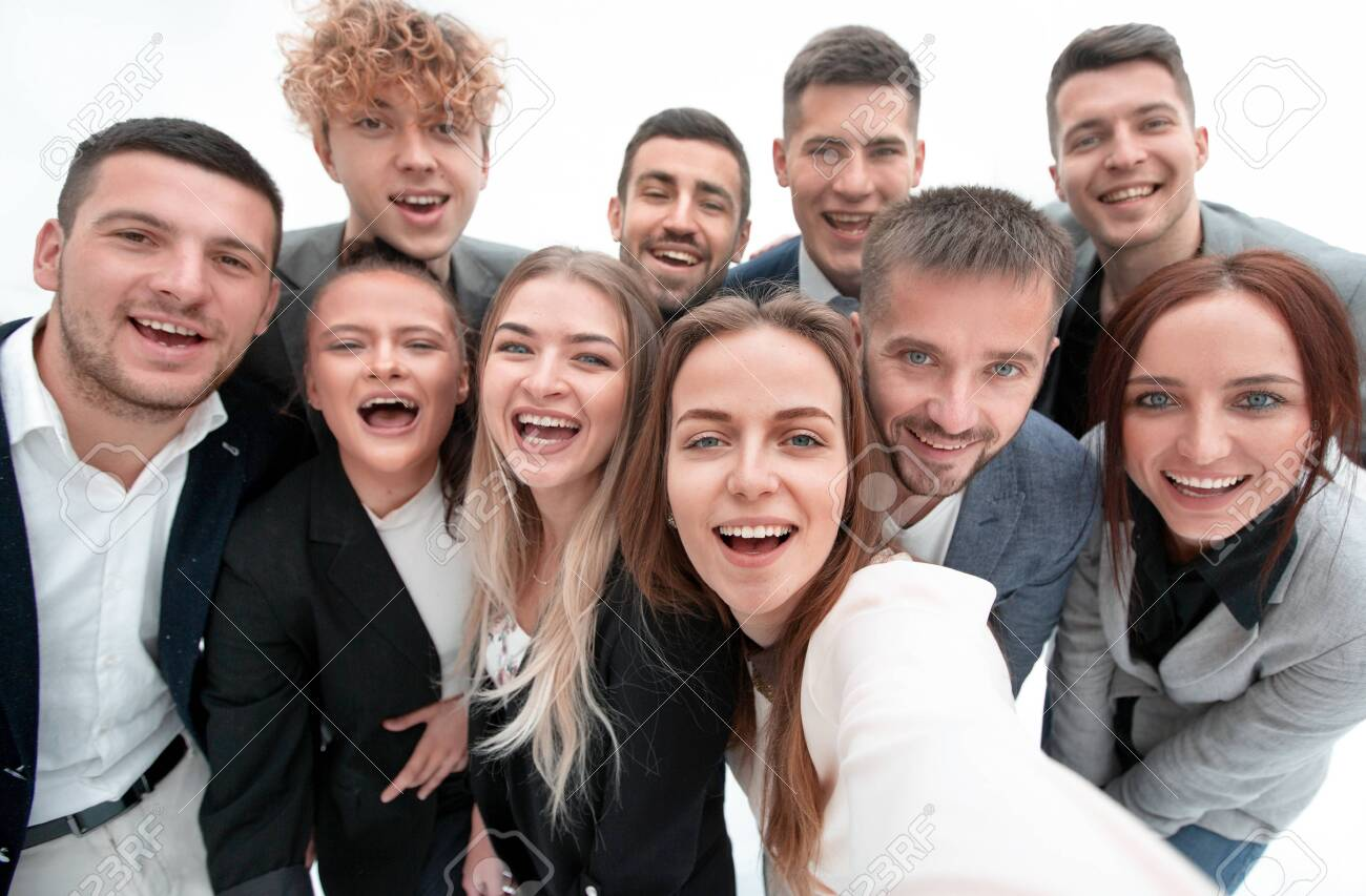 group of young business people looking at the camera - 143773685