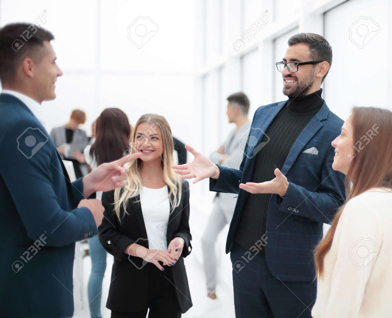 business man explaining something to his colleague. - 146371651