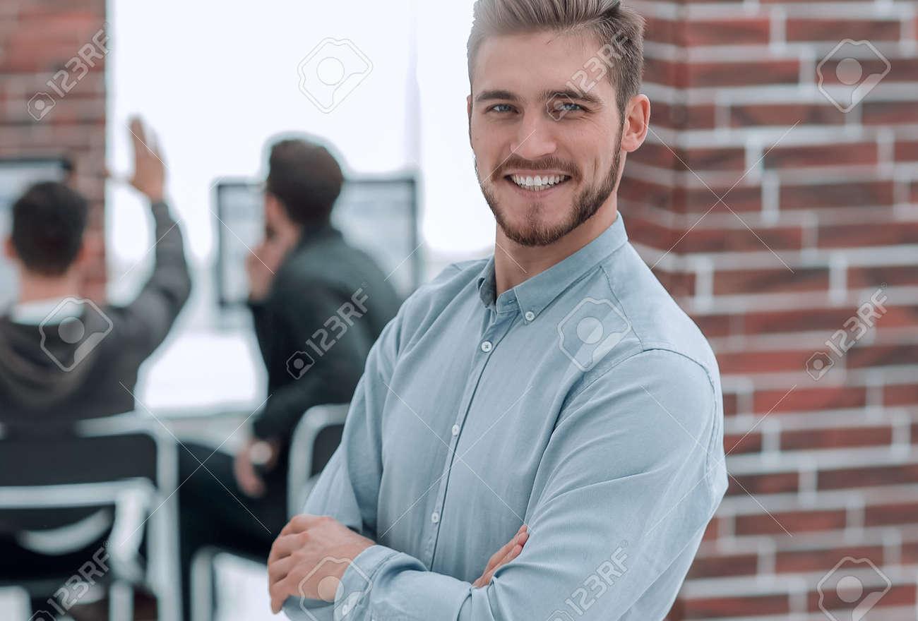 Handsome smiling confident businessman portrait. - 147399895