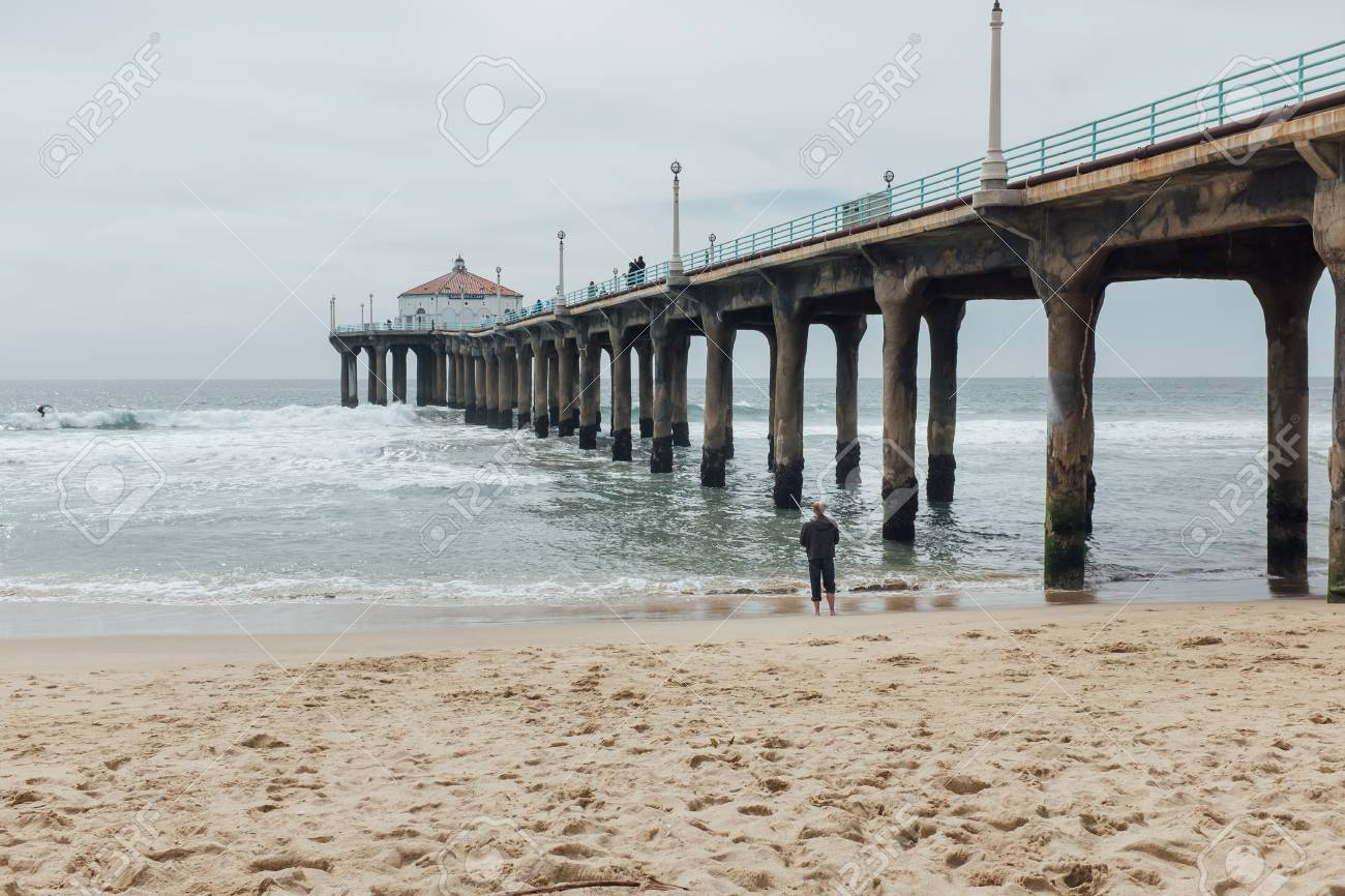 Summer Manhattan Beach Pier In Los Angeles Ca Usa Stock Photo Picture And Royalty Free Image Image 92159053
