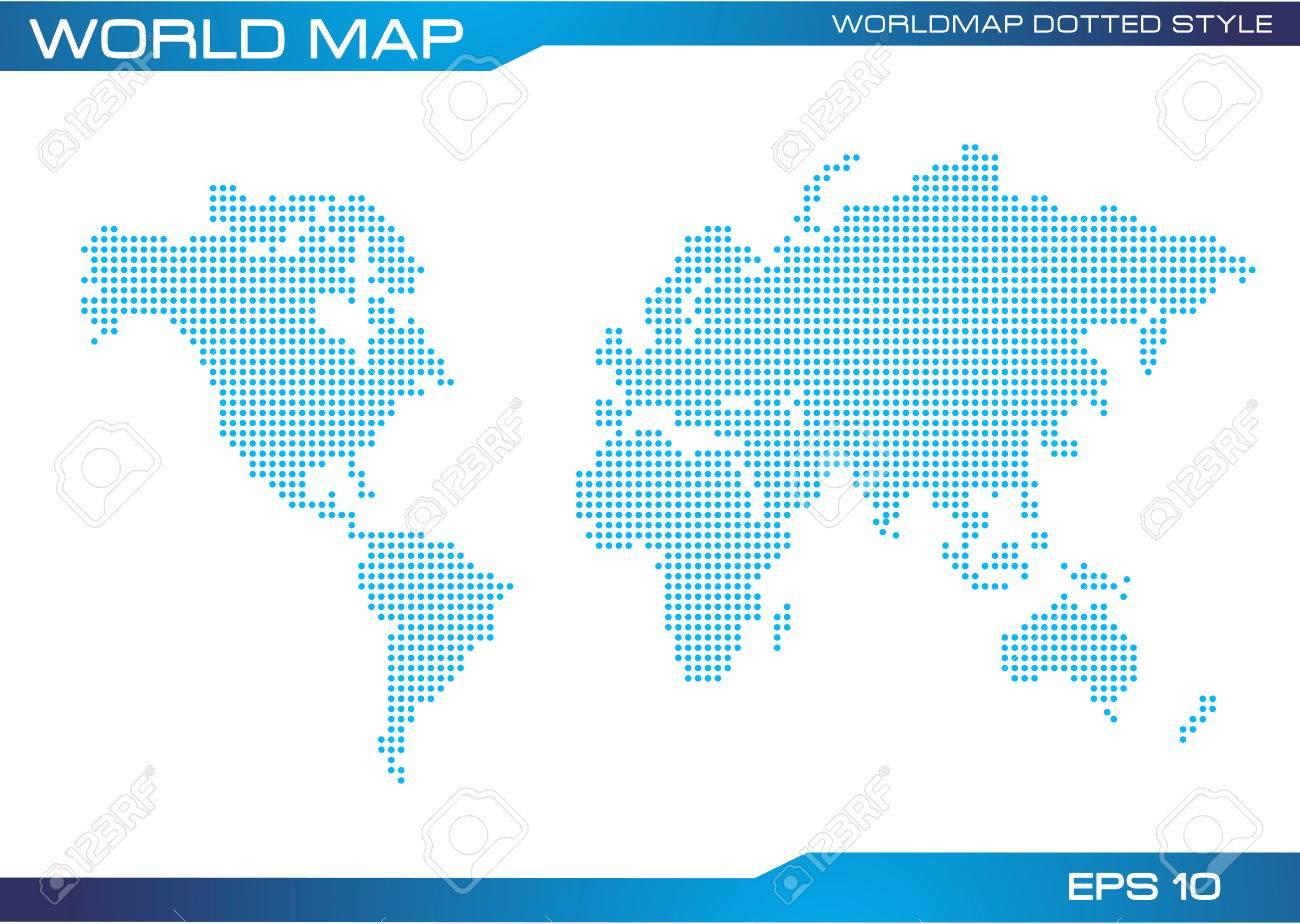 World map dotted style illustration easy to modify royalty free vector world map dotted style illustration easy to modify gumiabroncs Images