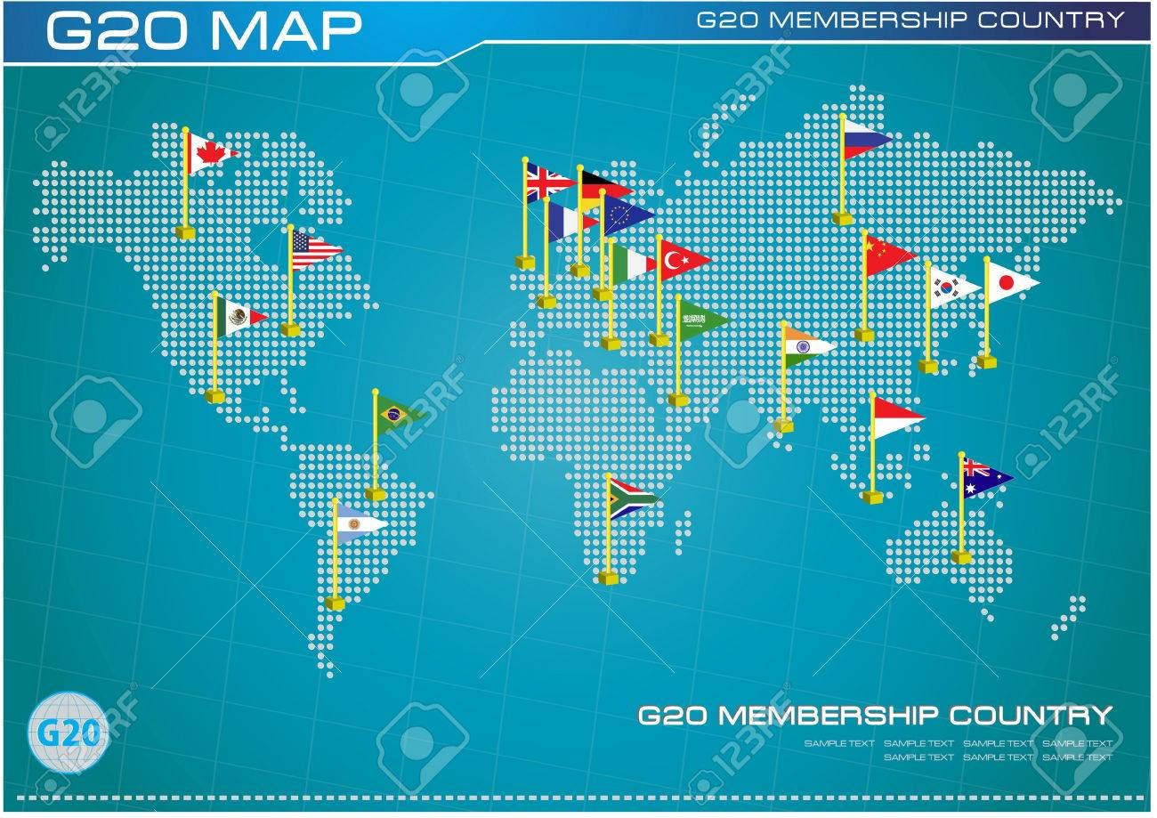 G20 country flags with dotted world map or flags of the world g20 country flags with dotted world map or flags of the world economic g20 country gumiabroncs Images