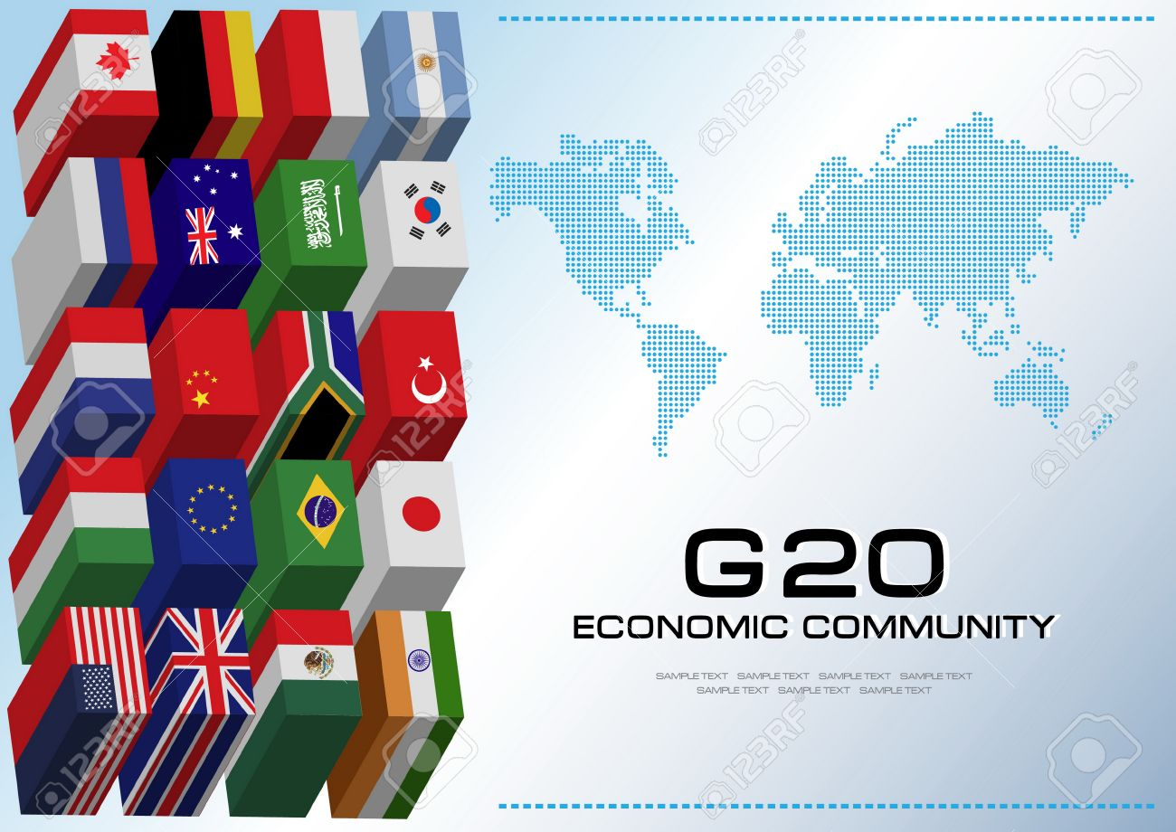 G20 country flags with dotted world map or flags of the world g20 country flags with dotted world map or flags of the world economic g20 country gumiabroncs Gallery
