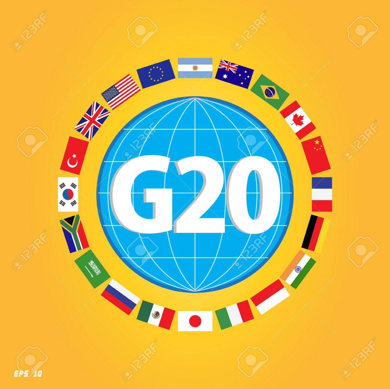 G20 country flags with dotted world map or flags of the world g20 country flags with dotted world map or flags of the world economic g20 country gumiabroncs Choice Image