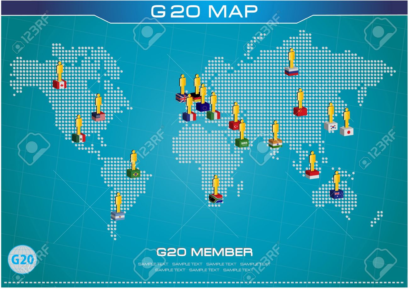 G20 country in 3d flags style with dotted world map or flags g20 country in 3d flags style with dotted world map or flags of the world economic gumiabroncs Image collections