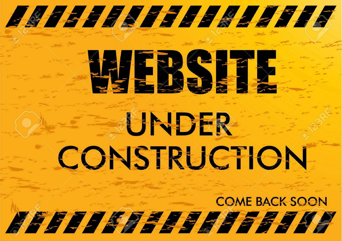 Website Under Construction. easy to remove scratch. - 40222331