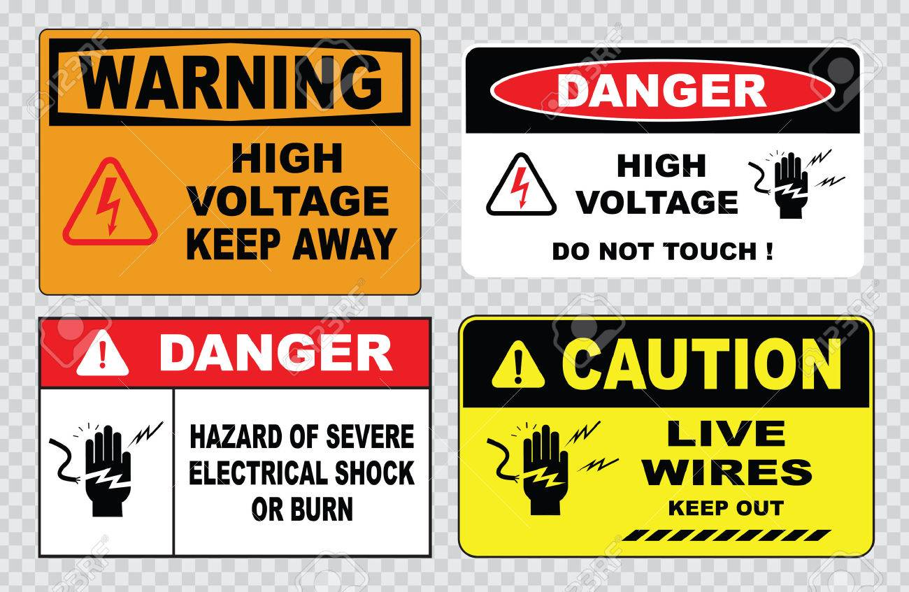 high voltage sign or electrical safety sign high voltage inside do not open high voltage within keep out do not touch. - 40811810