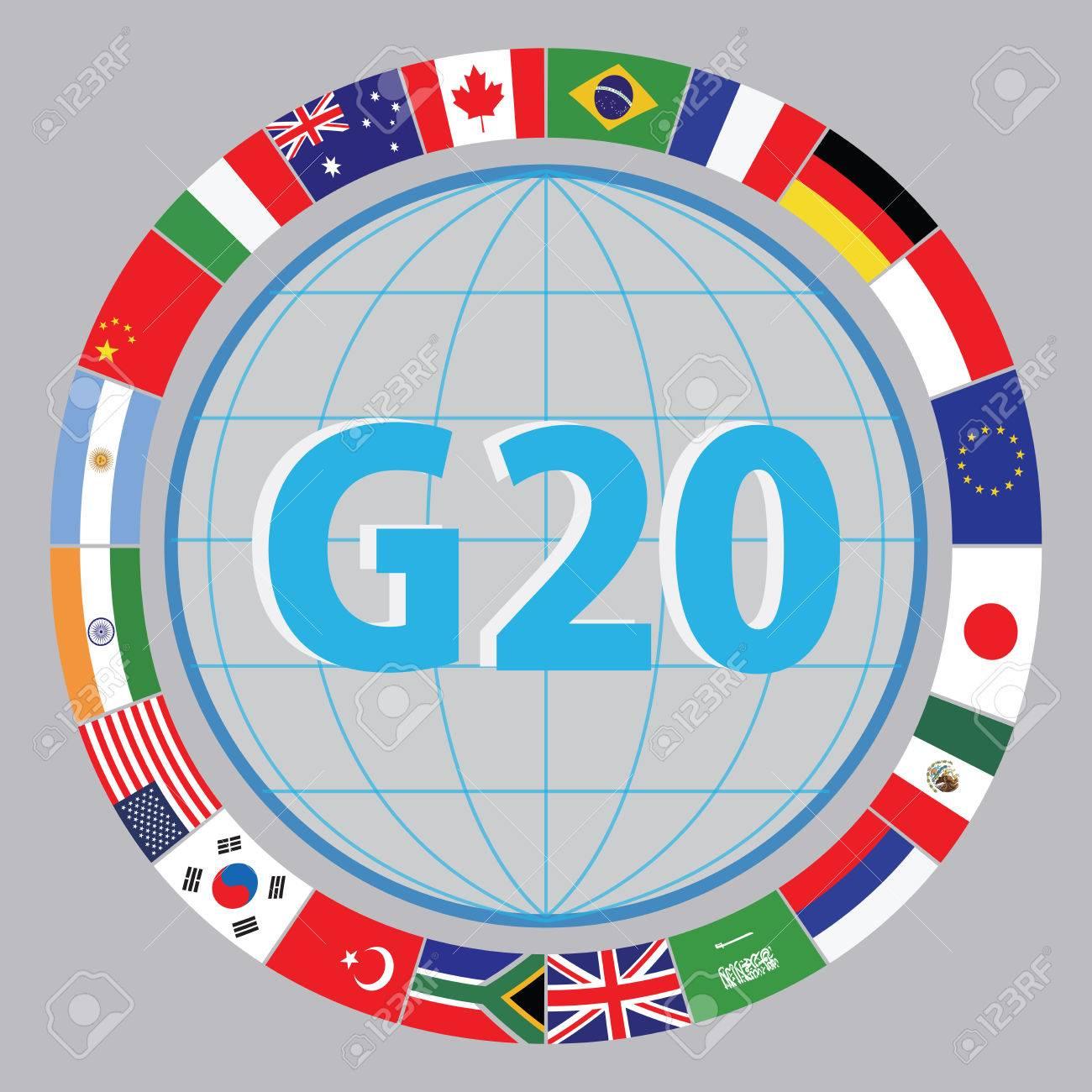 G20-Länder Fahnen Oder Flaggen Der Weltwirtschafts G20 Länder Flagge  Illustration. Einfach Zu ändern Lizenzfrei Nutzbare Vektorgrafiken, Clip  Arts, Illustrationen. Image 52492933.