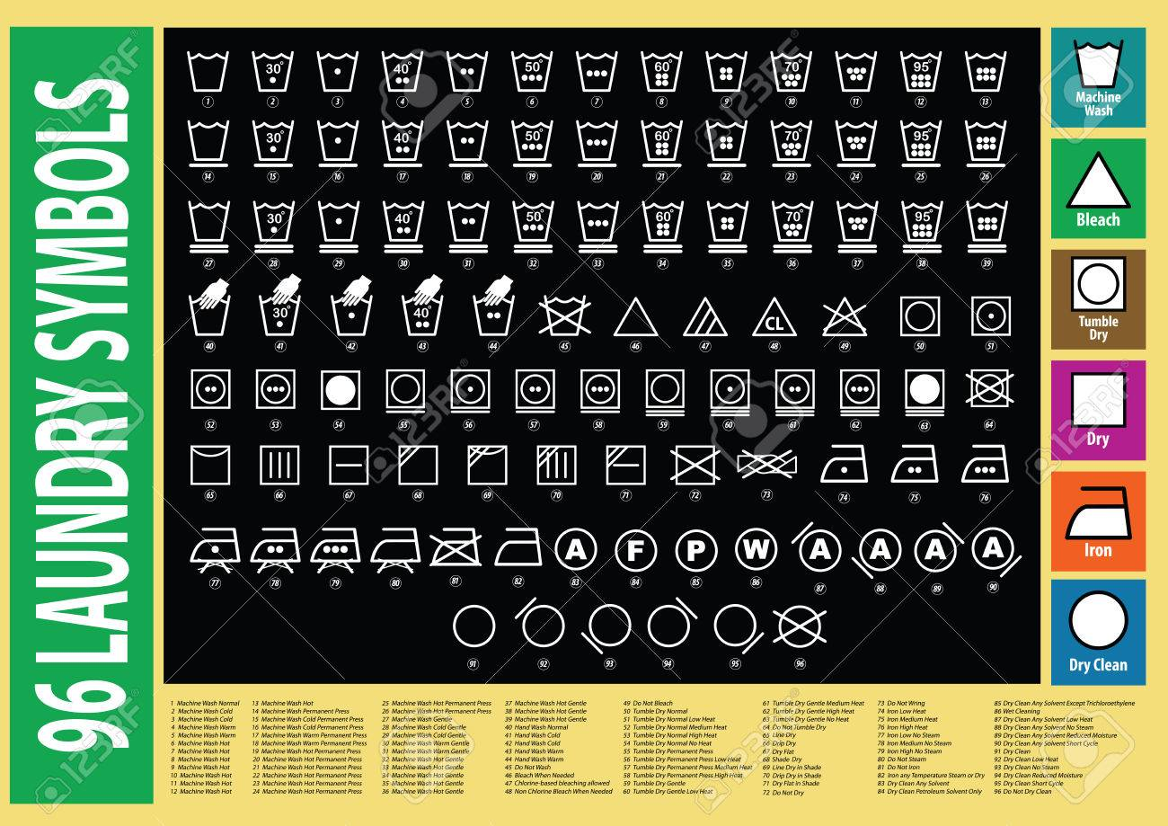 laundry symbols or washing symbols. easy to modify - 52492027