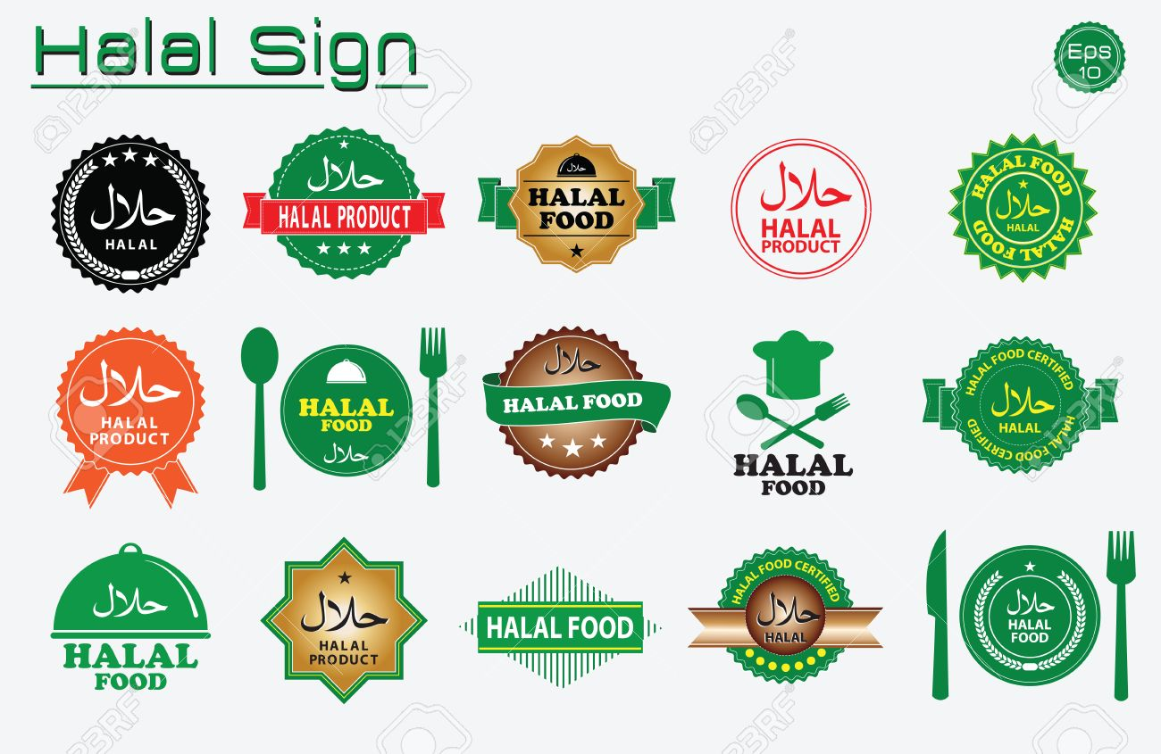 1038 halal icon cliparts stock vector and royalty free halal halal food labels vector set badges logo tag round and label design buycottarizona