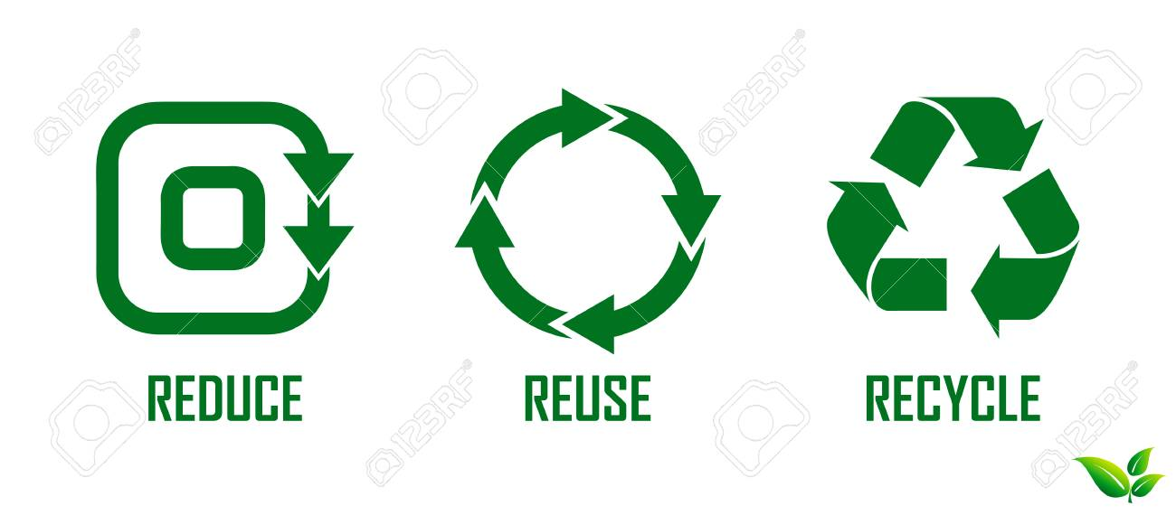 reduce reuse recycle concept. easy to modify - 107435996