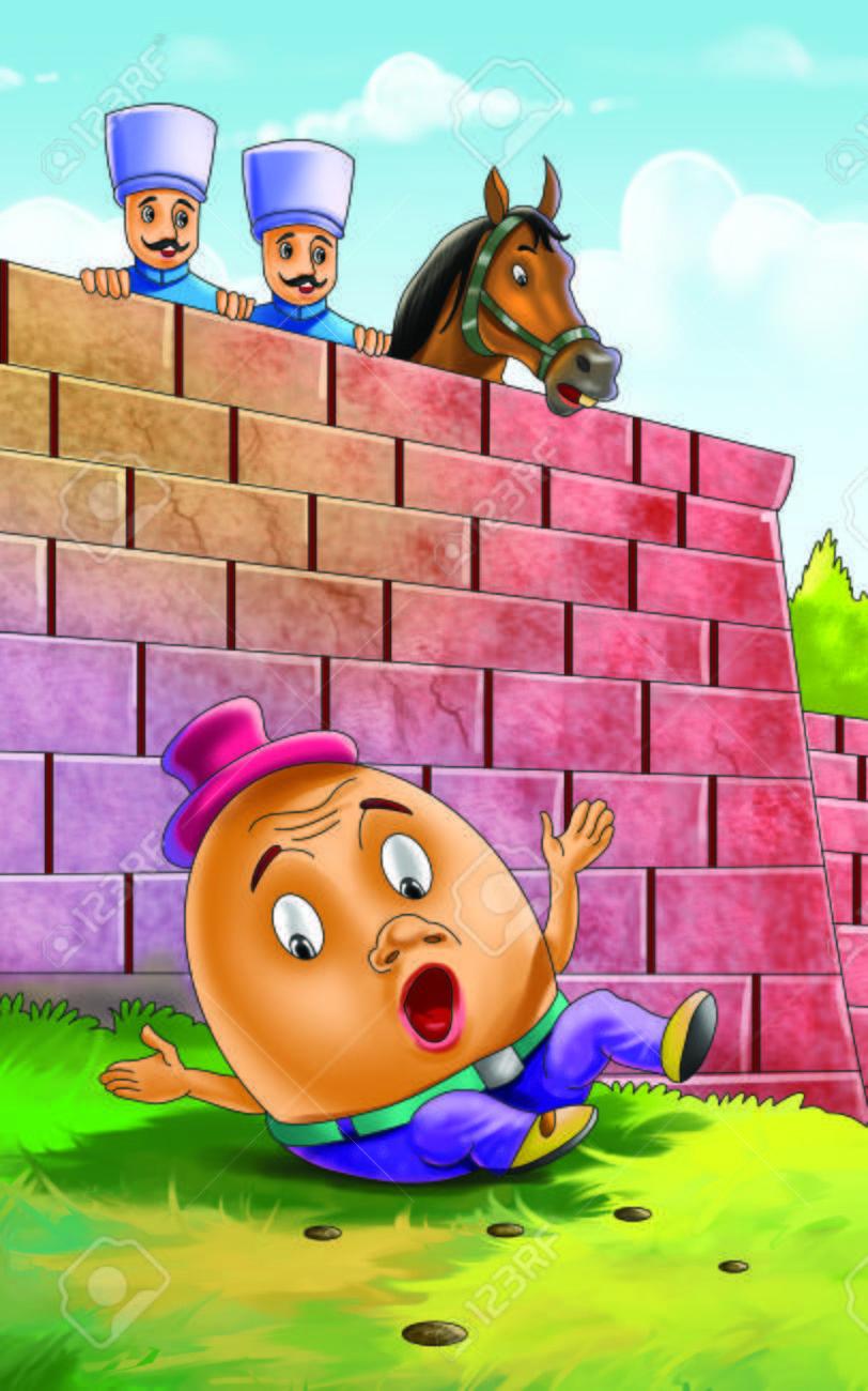Humpty Dumpty Set on a Wall Rhyme