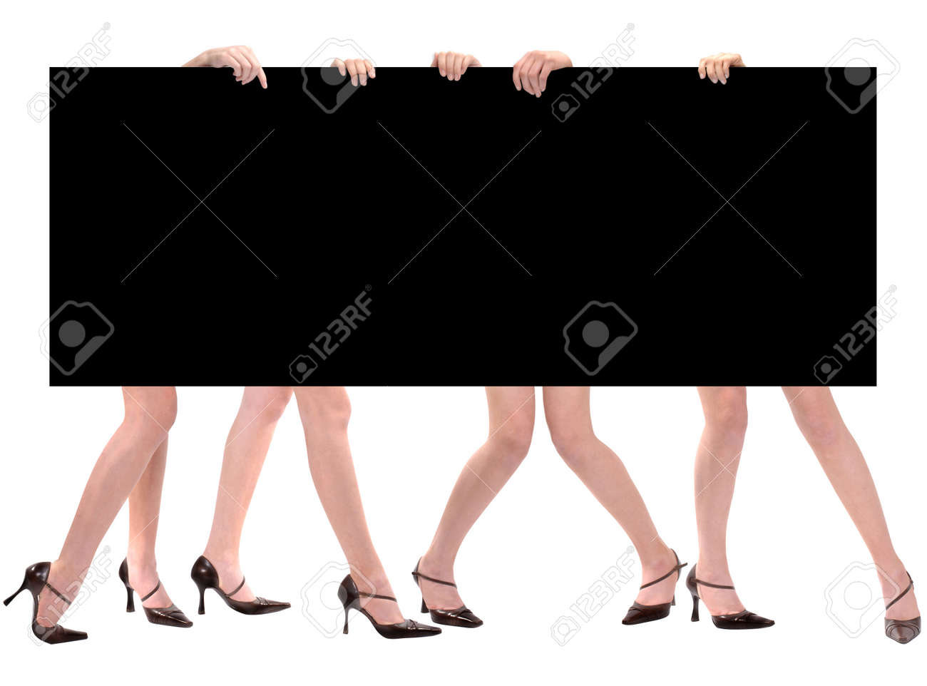 Legs & Message Space Marketing Board Stock Photo - 1065592