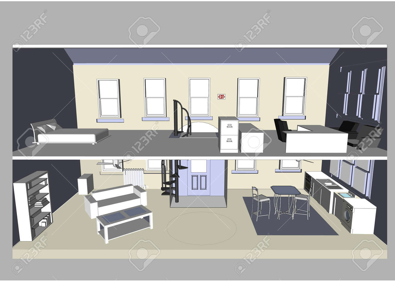 Home / Office (Vector image fully resizable and editable) Stock Vector - 2925964