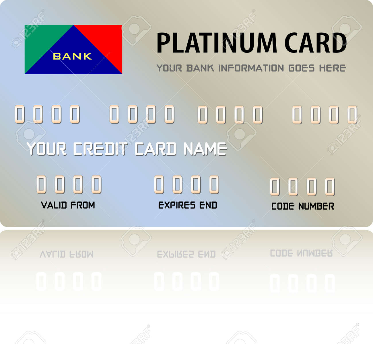 Platinum Credit Card (Vector fully editable and resizable) Stock Vector - 2986669