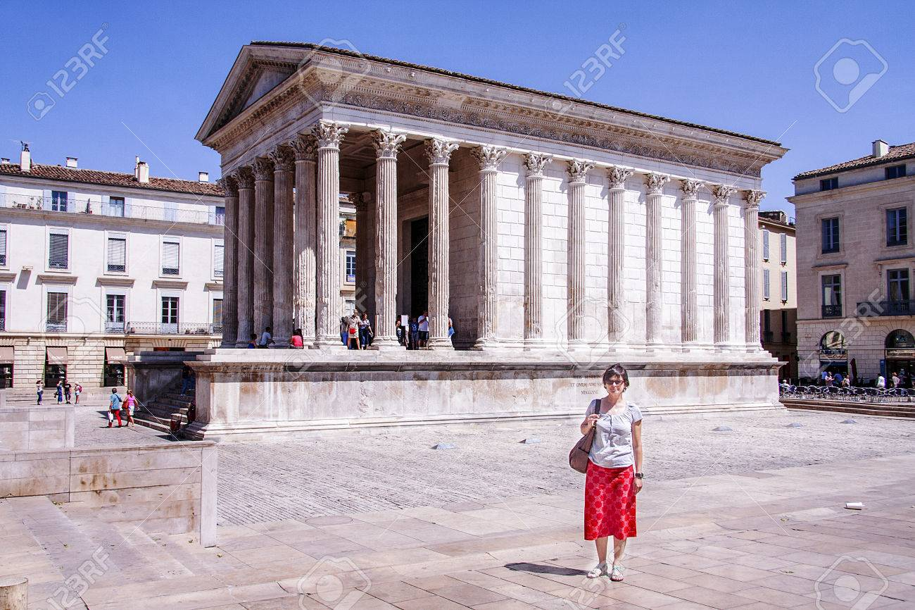 Maison Carree Of Nimes Stock Photo Picture And Royalty Free Image Image 73588456