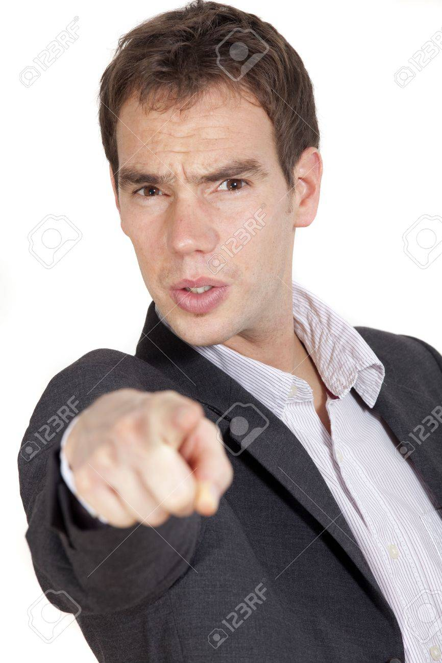 Man pointing at you with a finger Stock Photo - 5933748