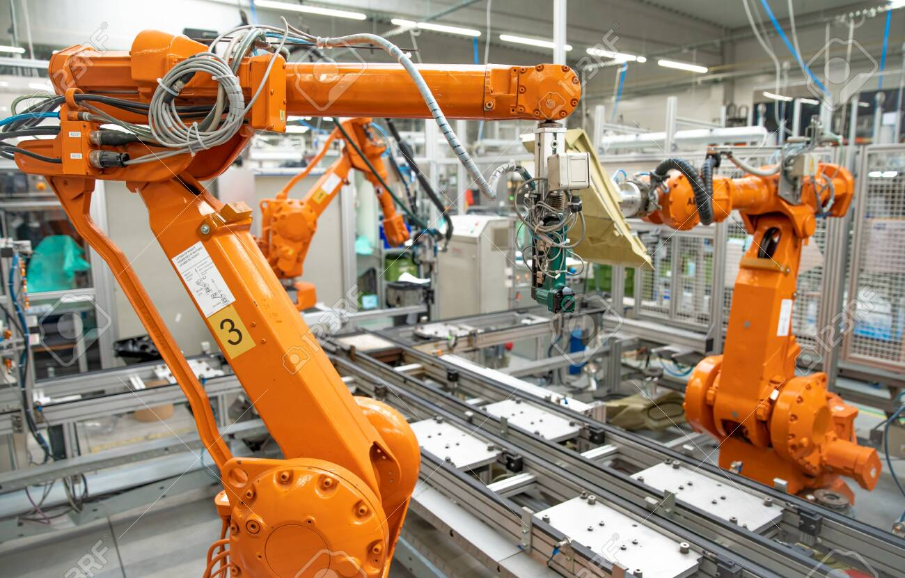 robotization of modern industry in the factory. New program industry 4.0 - 143837007