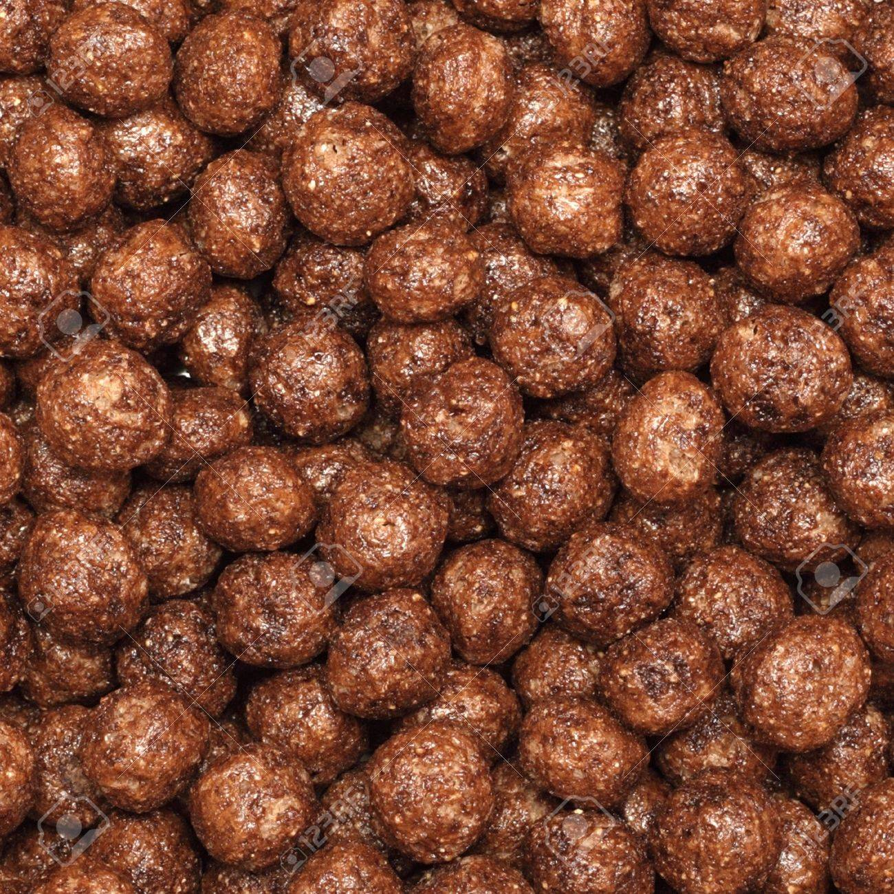 Abstract Background - Chocolate Cereal Balls (closeup) Stock Photo ...
