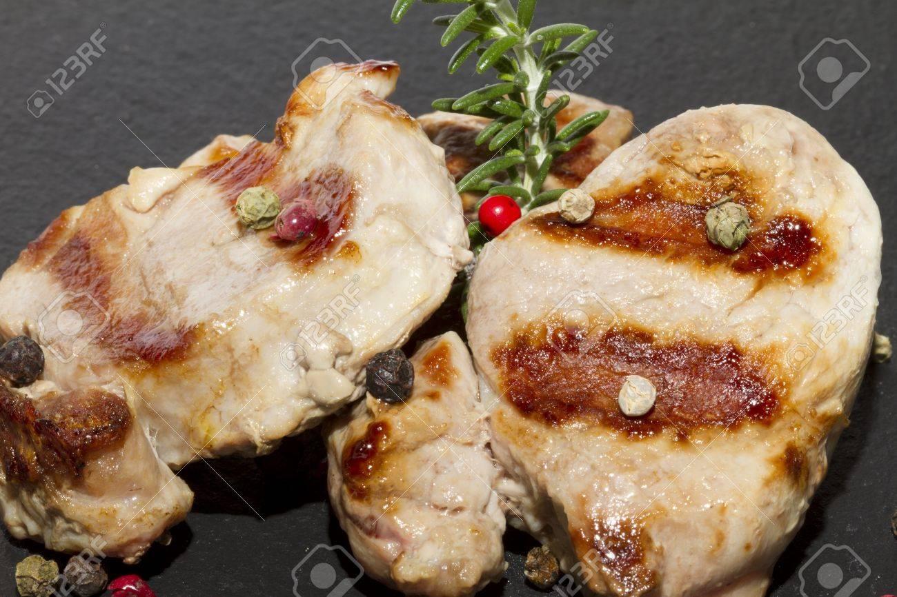 Pork tenderloin with grilled pepper Stock Photo - 15752888