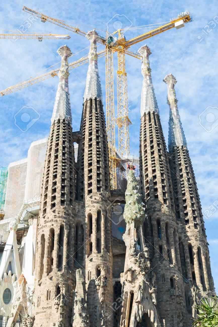 barcelona espaamarzo sagrada familia en de marzo la