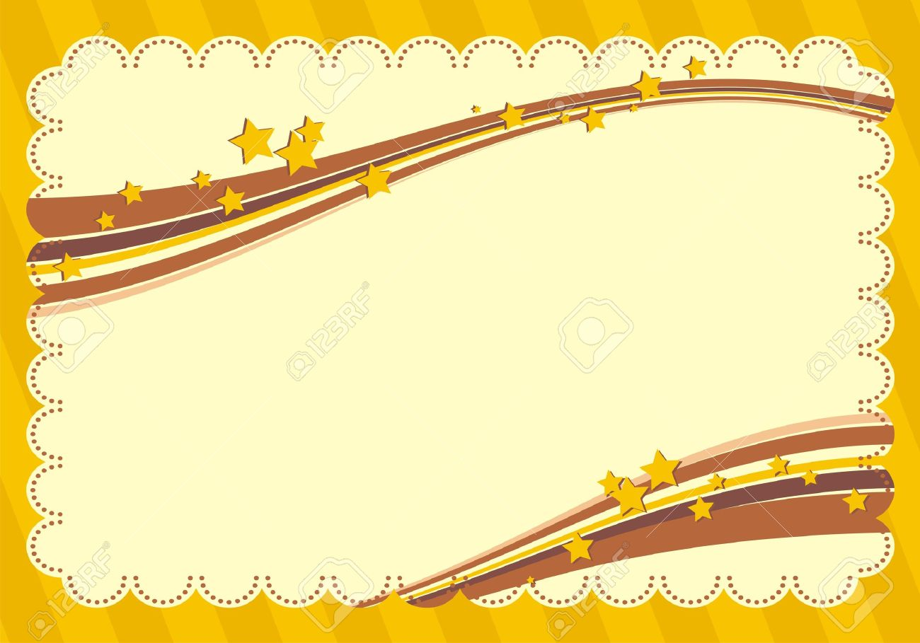 yellow frame with stars stock vector 10817800 - Yellow Frame