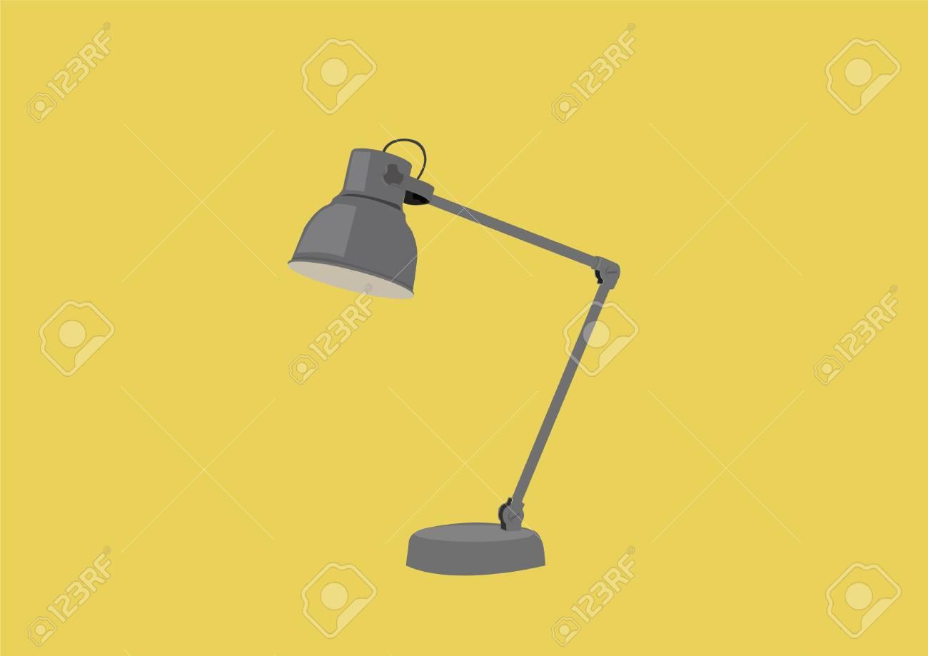Vector Illustration of a Desk Lamp - 120782250