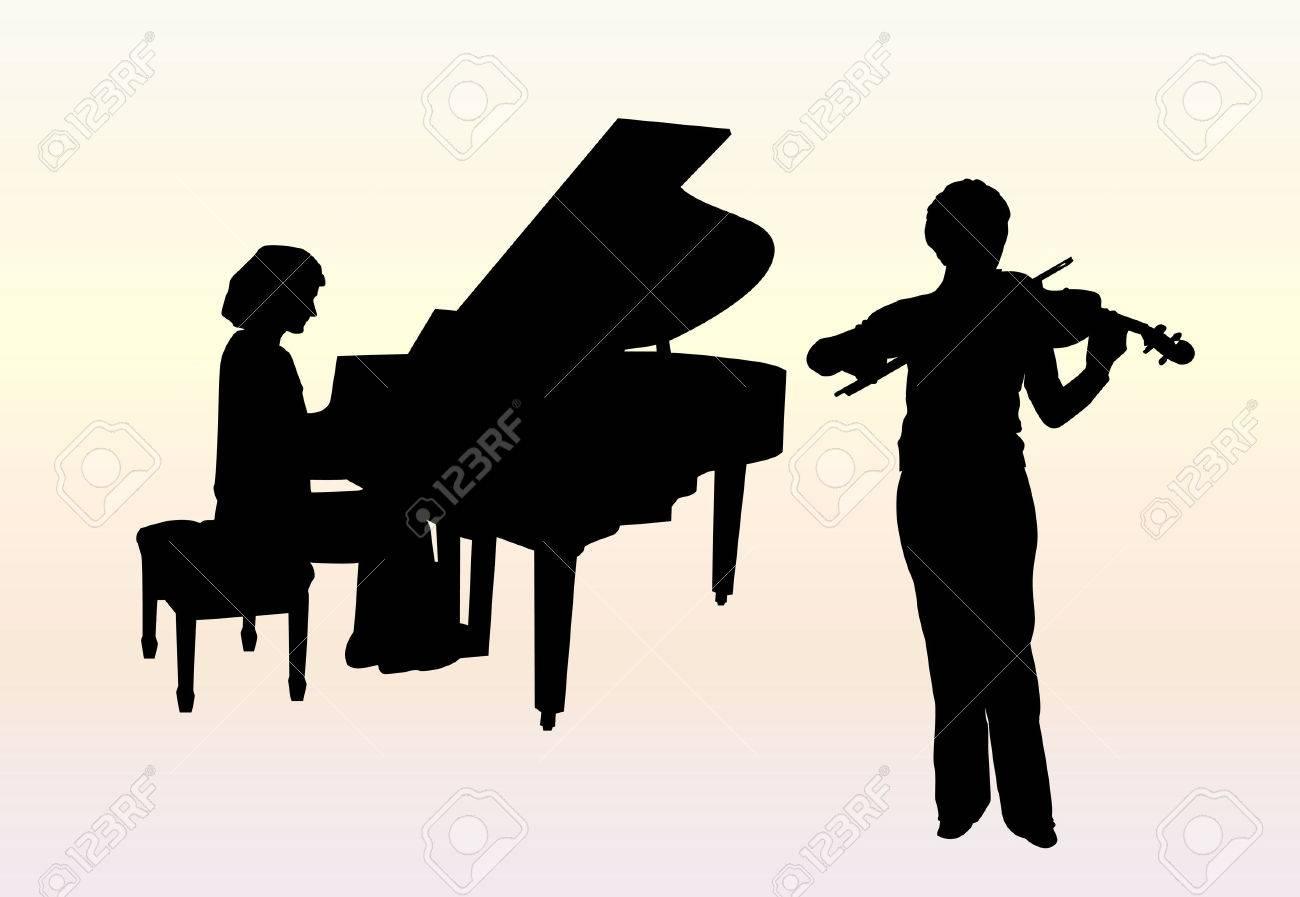 Concerto for piano and violin Stock Vector - 2706573