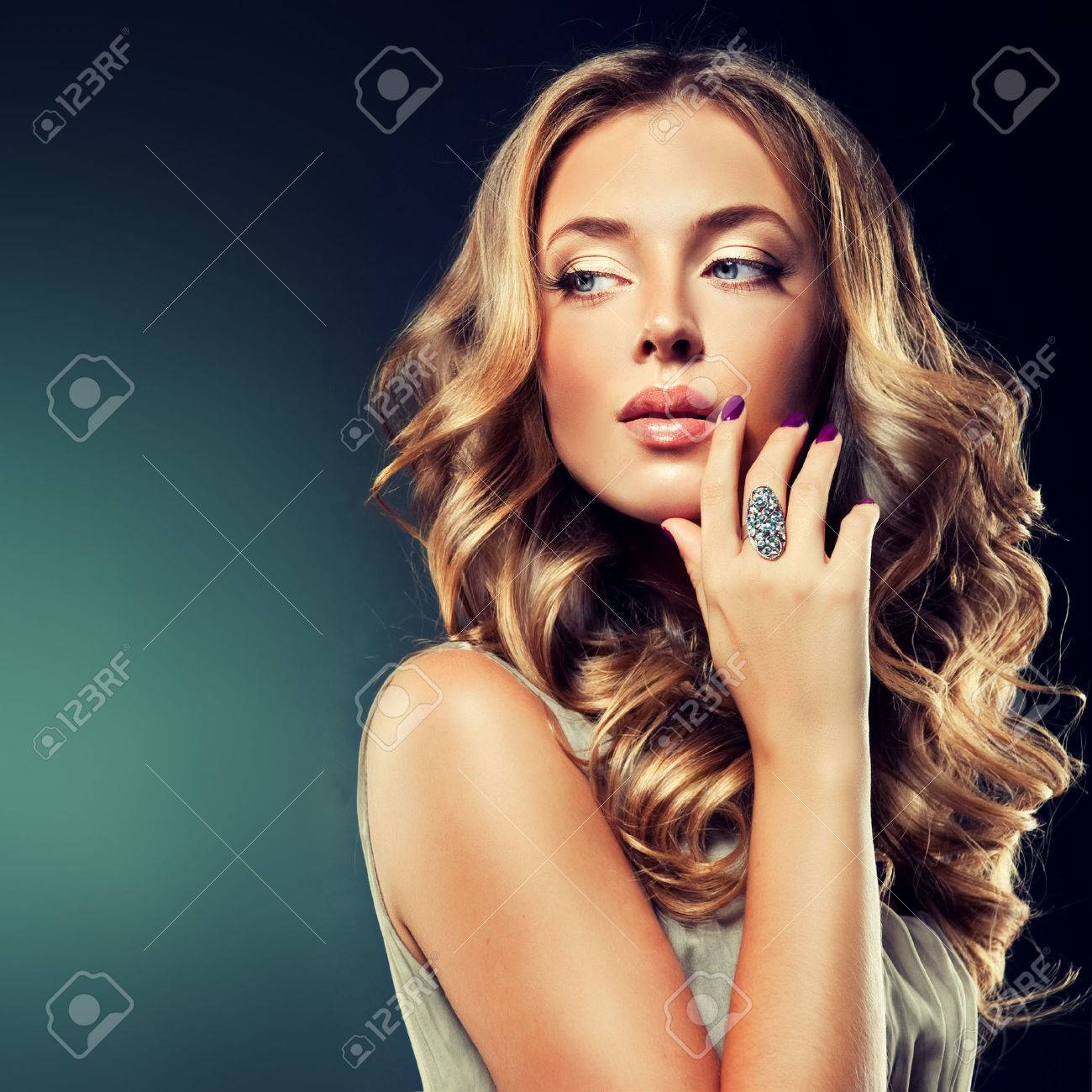 Luxury fashion style manicure cosmetics and makeup hair - 40847421