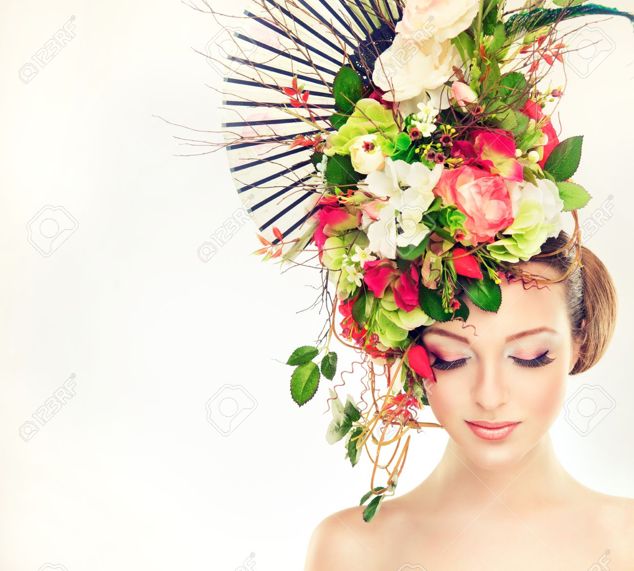 Spring freshness girl with delicate pastel flowers in hair stock spring freshness girl with delicate pastel flowers in hair stock photo 42235231 izmirmasajfo Gallery