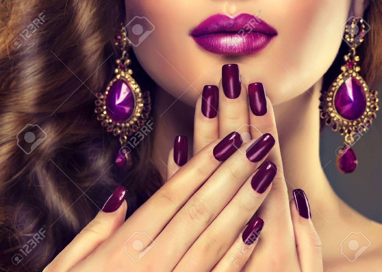 Luxury Fashion Style, Nails Manicure, Cosmetics, Make-up And.. Stock ...