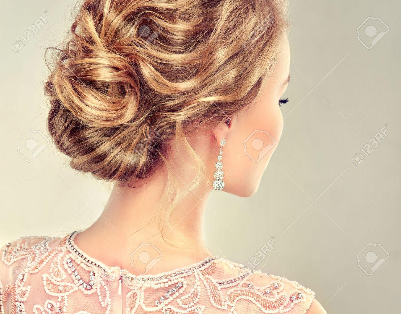 Peachy Example Of Wedding Hairstyle Beautiful Girl Light Brown Hair Short Hairstyles For Black Women Fulllsitofus