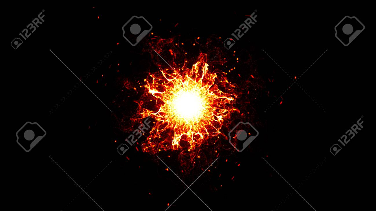 Particle magic explosion  Abstract neon futuristic glowing wave