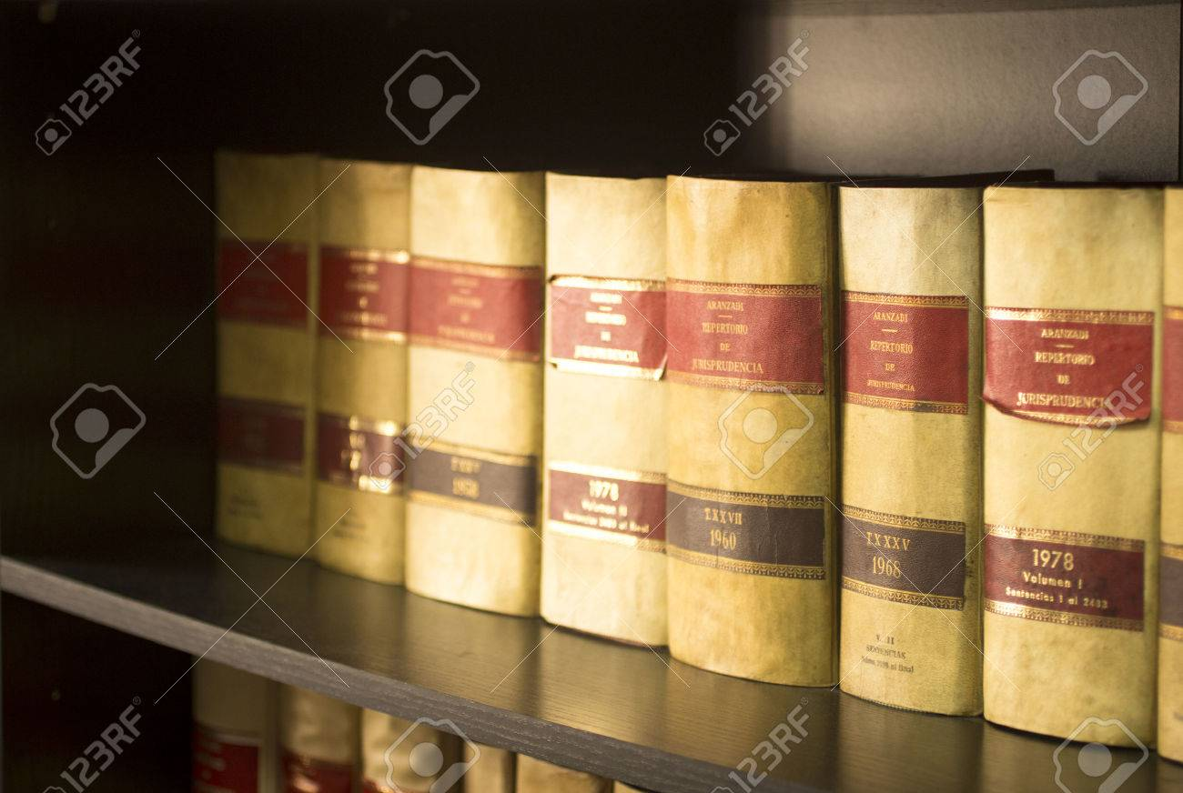 Old Legal Books Spanish Barristers Law Reports In Spain On Bookshelf Real Life Solicitors