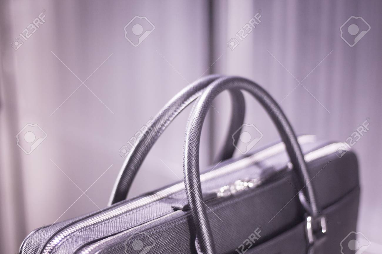 049f6bb06 Store Window Man Bag Luxury Leather Briefcase Photo. Stock Photo ...