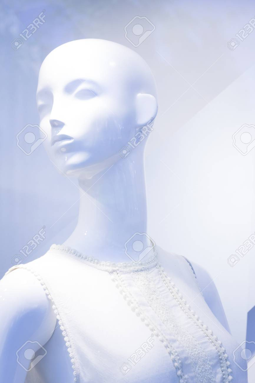 bb0b4d80c199 Almacén de la ventana de la moda tienda al por menor maniquí femenino  maniquí calvo.