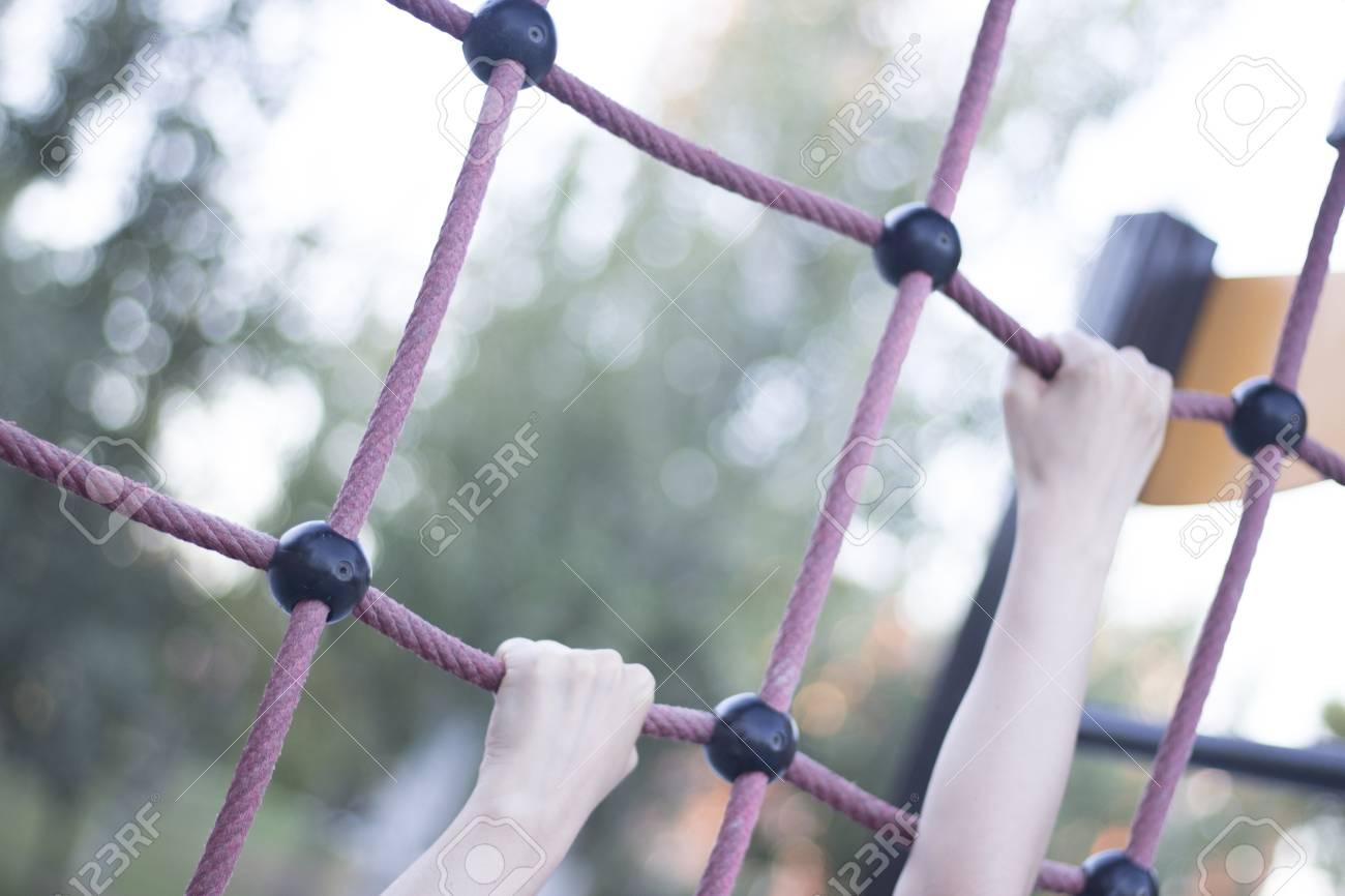 Park Kletterseile Rahmen Für Kinder Und Erwachsene Zu Klettern Und ...