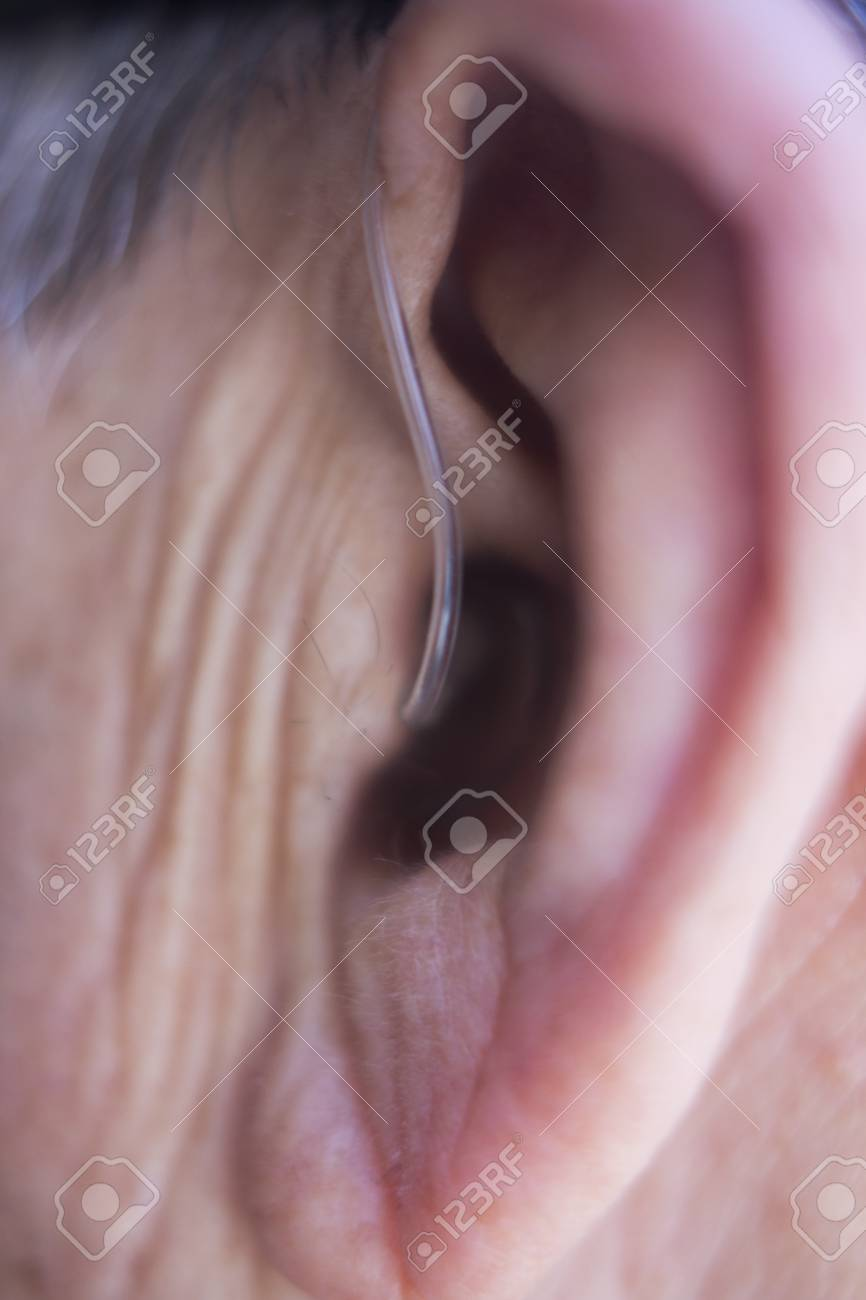 Modern digital in the ear hearing aid for deafness and the hard