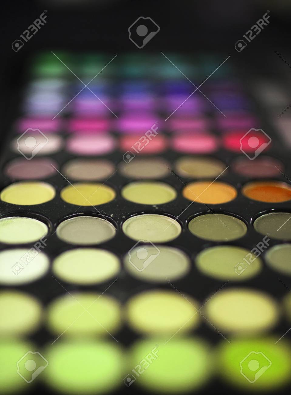 Professional Make Up Colors Mascara Shades Palette On Neutral